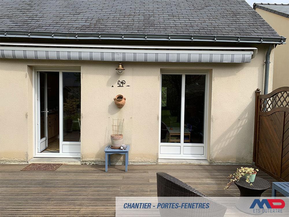 Réalisation Dun Chantier Avec Porte De Garage Et Portes Fenêtres